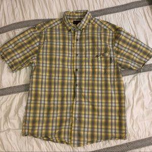 Men's Wolverine button down shirt.